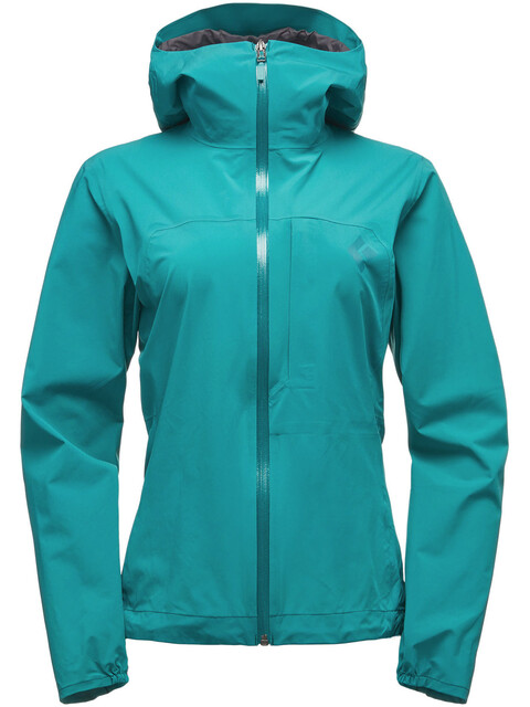 Black Diamond Fineline Stretch Rain Shell Jacket Women Evergreen